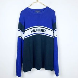 Vintage Tommy Hilfiger Spellout Logo Sweater